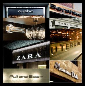 Algunas de las más famosas marcas de la compañía gallega Inditex