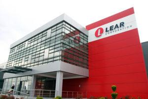 Frente de la planta de Lear en Tetovo, Macedonia